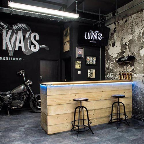 Interior signage for Lukas Barbers - plymouth