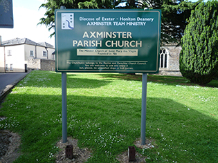 Axminst Church sign 1