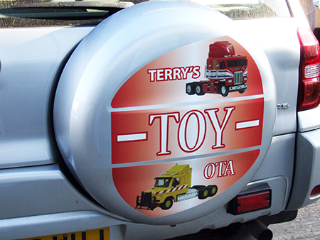 Wheel cover graphics Exeter